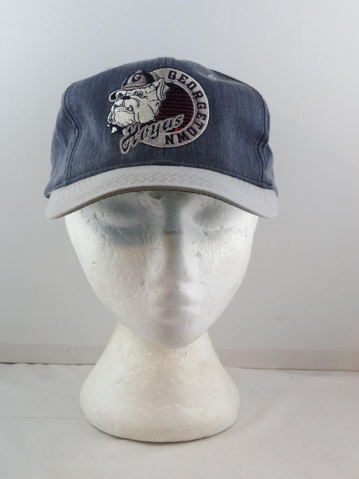 Georgetown Hoyas Hat - Stone Wash big Logo by Starter - Adult Snapback
