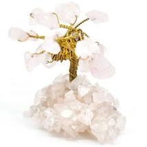 Polished Rose Quartz Gemstone Miniature Gem Tree Mini Gemtree image 2