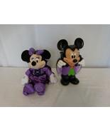 Disney Mickey Mouse Halloween Vampire Popcorn Bucket + Minnie Mouse Hall... - $47.54