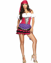 3 PC. Crystal Ball Gypsy Purple Sexy Adult Halloween Costume Leg Avenue ... - $27.09