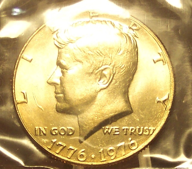 Primary image for 1976 Kennedy Half Dollar MS65 In the Cello #0373