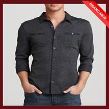 John Varvatos men's Button-Front Knit Sport Slim Fit Shirt - $1.950,29 MXN