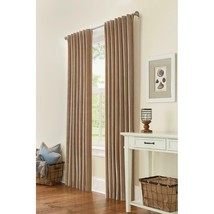"""NEW 2 Pack Semi Opaque Velvet Lined Window Panels in Taupe 50"""" x 84"""" - $38.00"""