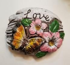 Decorative Stones Set of 3 Garden Decor Love Peace Hope Painted Rock image 6