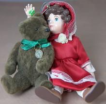 Julianne & Teddy Hallmark Christmas Ornament with Mistletoe in Box 1993 - $7.65