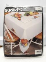 "Bucilla Stamped Cross Stitch Table Cloth 60"" x 104"" Cornucopia 41633 - $58.71"