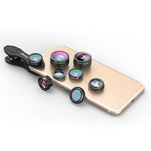 Akinger 7 in 1 HD Phone Lens, 0.36X Super Wide Lens + Kaleidoscope Lens ... - $38.17