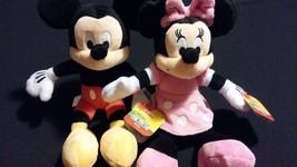 Disney Mickey Minnie Mouse Set of Soft Bean Bag... - $25.00
