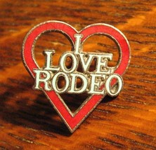 I Love Rodeo Lapel Pin - Vintage Heart California Drive Cowboy Shopping ... - $19.79