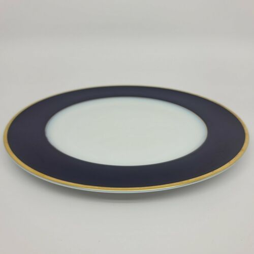 Primary image for Rosenthal Regency Cobalt/Gold Classic Rose Dinner Plate (multiple available)