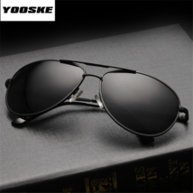 Occhiali da Sole Polarizzati Aviator da Uomo da Pilota Sunglasses Nero Black - $9.80+