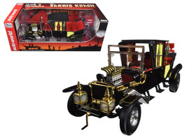 George Barris Munsters Koach Black 1/18 Diecast Model Car by Autoworld - $132.98