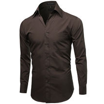 NEW Omega Italy Men's Dress Shirt Long Sleeve Solid Color Regular Fit 10 Colors image 3
