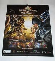 2008 Mortal Kombat vs DC Universe 28x22 inch poster:Wonder Woman,Batman,... - $39.59
