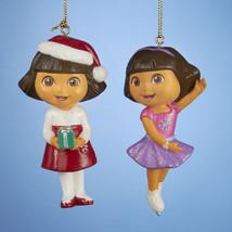 DORA the Explorer Ornaments Set of 2-By Kurt Adler-Holiday! - $12.34