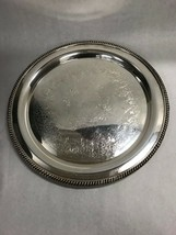 15 in. Round Silver plate WILCOX International Ashley 7072 platter Vinta... - $37.03