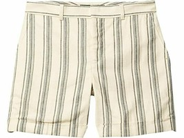 Lauren Ralph Lauren Pinstriped Linen-Blend Short Size 14 - $49.49