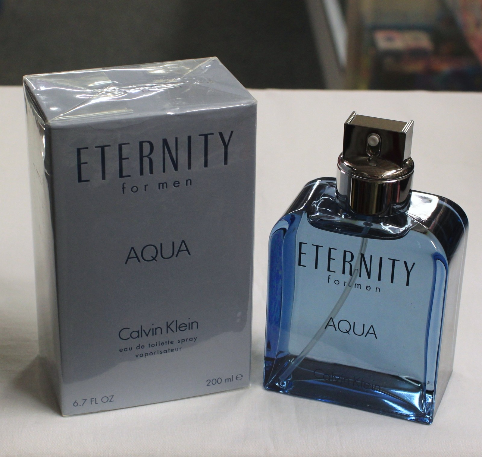 Primary image for Eternity Aqua by Calvin Klen for Men, Joint Bottle 6.7 fl.oz / 200 ml EDT Spray