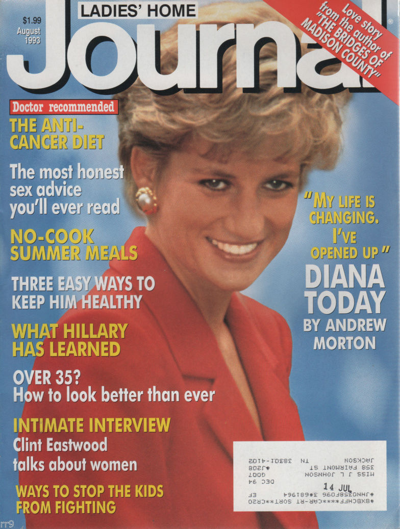 Primary image for Ladies' Home Journal Magazine August 1993 Diana Today