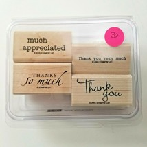 Stampin Up Much Appreciated Stamp Set EUC 4 Stamps - $12.00