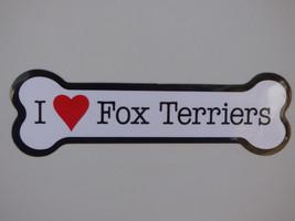 "I Heart (Love) Fox Terriers Dog Bone Car Fridge Magnet 2""x7"" NEW Waterproof - $4.99"