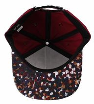 Dope Couture D0915-H206-BUR Seurat hook Loop Strapback Cap Burgundy Speckled Hat image 6