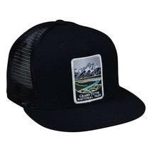 Grand Teton National Park Trucker Hat by LET'S BE IRIE - Black Snapback - £16.01 GBP