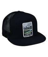 Grand Teton National Park Trucker Hat by LET'S BE IRIE - Black Snapback - £17.26 GBP