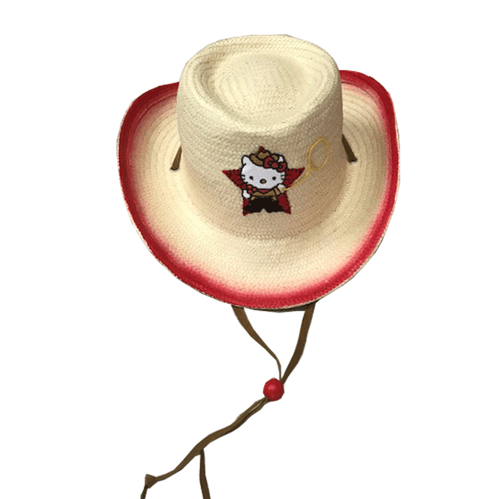 HELLO KITTY STRAW HAT - $6.85