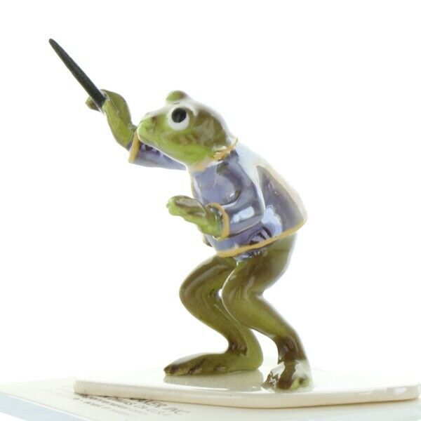Hagen Renaker Miniature Frog Toadally Brass Band Conductor Ceramic Figurine
