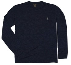 Polo Ralph Lauren Men Long Sleeve Pony Logo T-Shirt Gentian Blue S L XL XXL - $34.95