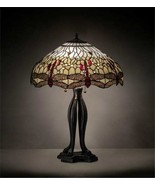 Tiffany Style Hanging Head Dragonfly Table Lamp - $2,019.60