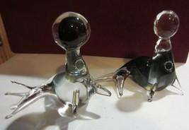 V. NASON & C MURANO Italy Art Glass Seals with Balls - STICKER - $56.95