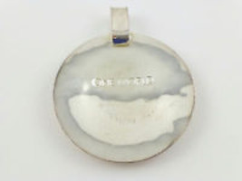 "Robert Lee Morris RLM Studio ""One World"" Sterling Silver Large Disc PENDANT - £43.18 GBP"