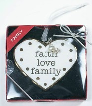 ST. NICHOLAS SQUARE CHRISTMAS ORNAMENT HEART FAITH LOVE FAMILY NEW - $9.89