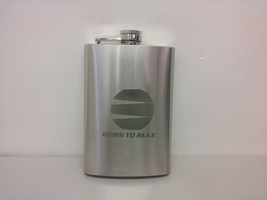 "8 Oz ""Born To Rule"" Flask Sale Liquidation - $3.10"