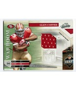 Glen Coffee 2009 Playoff Absolute War Room #33 RC Jersey /250 49ers - $3.00
