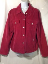 Talbots Stretch Women Jacket Blazer Corduroy Dard Red Size L Button down - $14.95