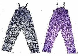 Classic Floral Print Overalls 100% Cotton Batik look Overalls Sz S, M, XL  - $29.99