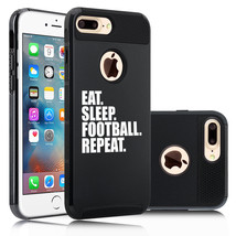 For iPhone X SE 5s 6 6s 7 8 Plus Shockproof Hard Case Eat Sleep Football... - £11.41 GBP