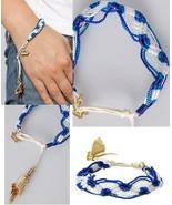 WHOLESALE 10pc LOT DISNEY COUTURE POCAHONTAS BLUE/WHITE CHARM BRACELETS~... - $200.00
