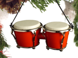 "3.5"" RED BONGO DRUM MUSICAL INSTRUMENT CHRISTMAS ORNAMENT GIFT BOXED ODRR* - $10.88"
