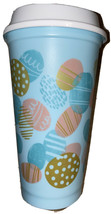 Starbucks Coffee 16 oz Reusable Spring Easter 2020 Blue Hot Cup Eggs New - $11.40