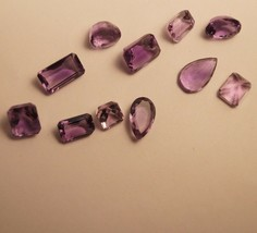 Amethyst Loose Gemstone for Ring Pendant For Jewelry 11 PCs set 27 ct 860 - $34.64