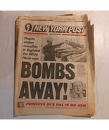 New York Post February 15 1991 Bombs Away Baghdad Kuwait Hussein NB - $39.99