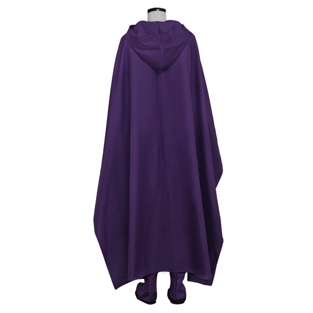 Teen Titans Raven Cosplay Costume Women Halloween Party Dress