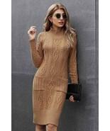 Winter new slim slim knee-length skirt long sleeve pullover dress - $59.50