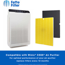 True HEPA Filter Replacement Compatible with Winix 116131 Filter I for C555 image 2