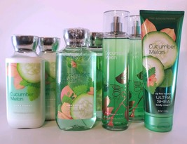 BATH & BODY WORKS 7 PC LOT - CUCUMBER MELON LOTION, MIST SHOWER GEL, BOD... - $27.72