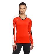 Asics Women's Roll Shot Jersey, Medium, Orange/White - $20.63